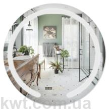 Дзеркало Qtap Mideya LED  настінне кругле 600х600  (DC-F802)