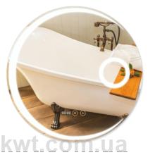 Дзеркало Qtap Mideya LED  кругле настінне 600*600