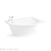 "Ванна зі штучного каменю ""Лагуна R"" 170*100(Асиметрична)"