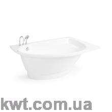 "Ванна зі штучного каменю ""Лагуна R"" 150*100 (асиметрична)"