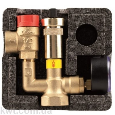 Afriso KSG mini 50 кВт, группа безопасности котла с изоляцией