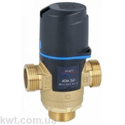 """Afriso (Афризо) ATM 341 G 3/4"""" DN15 20-43°С kvs 1,6 трехходовой термостатический клапан"""
