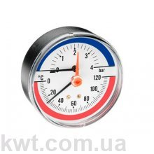 Термоманометр ARTHERMO TI003 (80 мм, 0-4 бар, 0-120 °С)