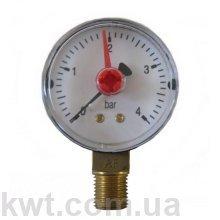 Манометр Arthermo MA001/P, 1/4″ (Ø63 мм, 0-4 бар)