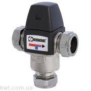 Трехходовой термостатический клапан VTA333 пресс-фит. 22мм 35-60°С kvs 1,2