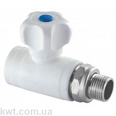 Кран шаровой PPR радиаторный прямой Formul