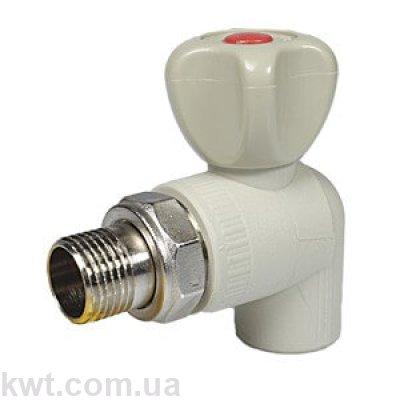 Кран шаровой PPR радиаторный угловой Formul