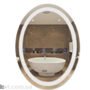 Дзеркало Qtap Mideya LED овальне настінне 600х800 (DC-F805-1)