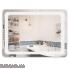 Дзеркало Qtap Mideya LED  прямокутне настінне 800х600 QT2078F908W (DC-F908)